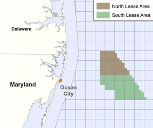 A map of the proposed offshore wind farm area is pictured. Submitted Image