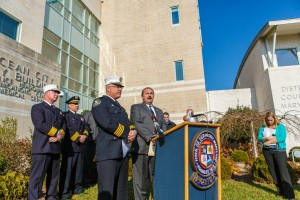 OC Fire Marshal David Hartley and OCPD Captain Michael Colbert at this morning's press conference. Photo by Chris Parypa