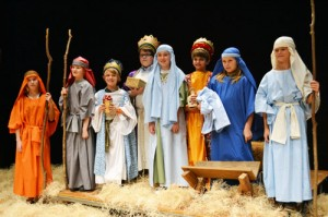 Fifth Grade Students At Worcester Preparatory School Portray Characters In Traditional Nativity Scene