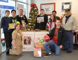 Naval Junior ROTC Program At SD High School Sponsor Toys For Tots Program
