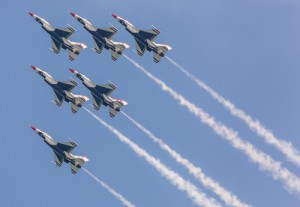 The U.S. Air Force Thunderbirds, pictured in 2012, will headline the 2014 OC Air Show followed by the U.S. Navy Blue Angels in 2015. Photo by Chris Parypa