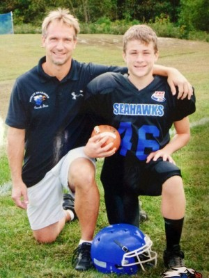 The Berlin Seahawks have nominated Stan Griffin, head coach of the Midgets team, for the Henlopen Pop Warner Program's Homer Mumford Volunteer Award, and his son Shea, for the Casey Lynch Leadership Award.  Submitted photo