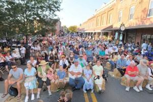 Berlin's downtown area is pictured during last summer's Fiddlers Convention, one of the town's biggest special events. File Photo