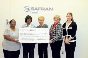 United Way Recognizes Safran Labinal For Its Support During Annual Campaign