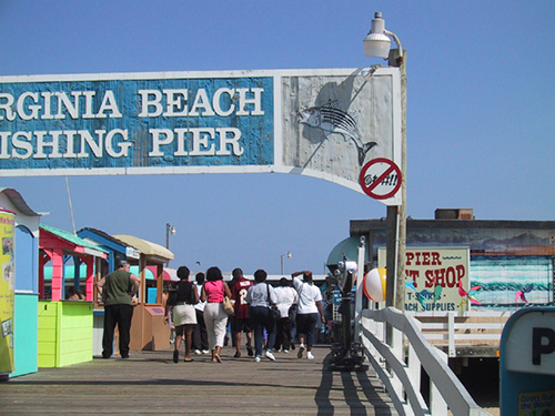 "Virginia Beach's Oceanfront currently utilizes ""no profanity signs,"" like the one pictured above. Submitted Photo"