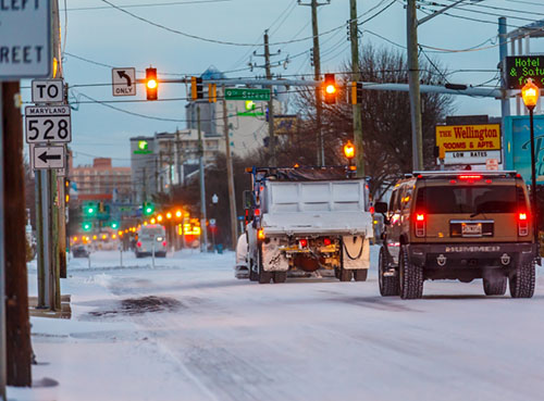 Baltimore Ave. in Ocean City is pictured on Wednesday morning. Photo by Chris Parypa Photography