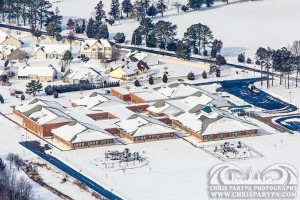 Ocean City Elementary School is pictured last Wednesday after five inches of snow. Photo by Chris Parypa