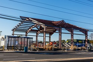 Located on 130th Street and Coastal Highway, the new Fire Station 4 is currently under construction. Photo by Chris Parypa