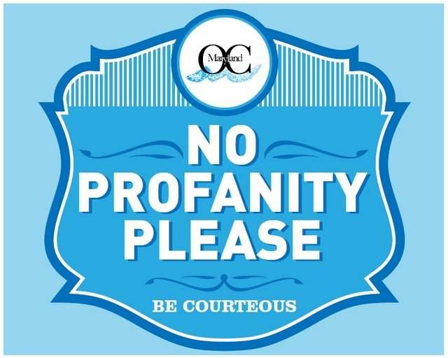 No Profanity Sign Virginia Beach
