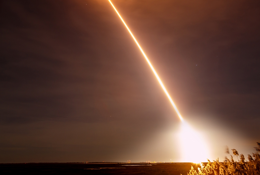 A rocket launch is pictured last November from Worcester County. Photo by Chris Parypa