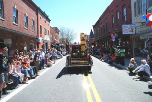 The Berlin Fire Company is pictured concluding Saturday's parade on Main Street. Photo by Steve Green