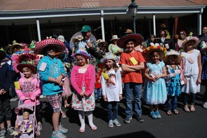 Some contestants in the Easter Bonnet and Mad Hatter Parade are pictured at a previous Berlin Spring Celebration. File Photo