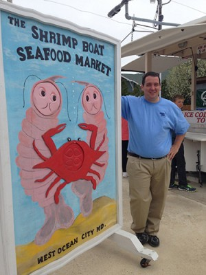 The Shrimp Boat owner Joe White is pictured at his business off Route 611. Photo by Joanne Shriner