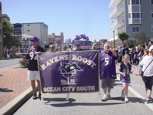 One of the highlights of the Ravens Ocean City Beach Bash weekend is Saturday's annual parade along Baltimore Avenue. File Photo