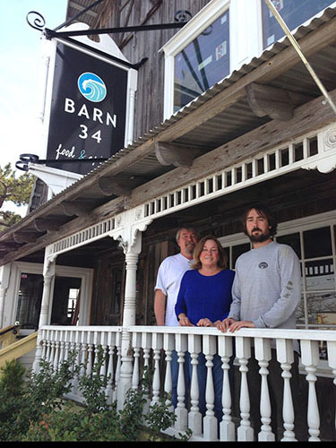 After extensive renovations over the winter and early spring, Mike, Mary Anne and Michael Lawson opened the new Barn 34 in Ocean City this week. Photo by Joanne Shriner