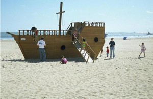 The former beach playgrounds were removed prior to last summer due to a variety of factors. File Photo