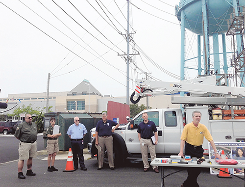 Ocean City Emergency Services Joe Theobald is pictured during a recent storm awareness press conference. Photo by Joanne Shriner