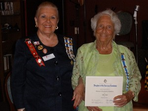Daughters Of The American Revolution Recognize Chambers For Her 50 Years Of DAR Membership