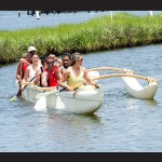 New this year to Walk On Water are six-person outrigger canoe excursions, pictured during a recent trip.