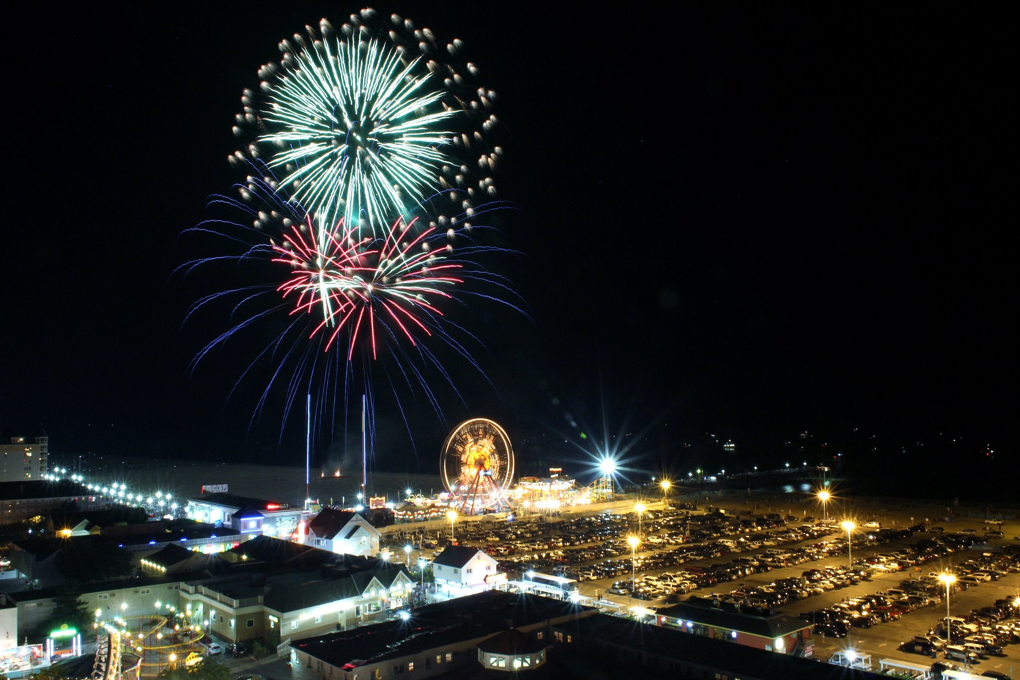 The downtown fireworks display is pictured during a previous holiday celebration. Photo by Bernie Walls