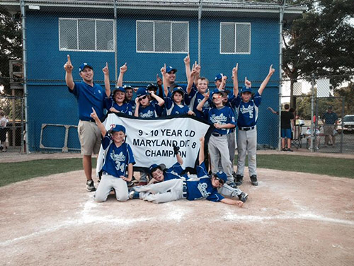 The Berlin 9-10 All Star team led by Coach Eric Snelsire captured the District 8 championship on Tuesday to advance to the state tournament. Meanwhile, Berlin's Intermediate All Star team rallied from a six-run deficit to advance in their state championship tournament.  Submitted photo