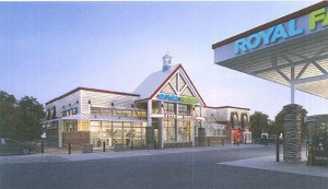 A proposed look at the convenience store planned for Route 50 and Friendship Road. Rendering by Ratcliffe Architects