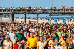 Opening ceremonies were held on the Inlet beach on Monday afternoon for the final leg of the USSSA World Series. Photo by Chris Parypa