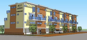A proposed look at the new Misty Harbor Townhomes proposed for 25th Street. Rendering by Robert Heron, President of Atlantic Planning Development & Design, Inc.