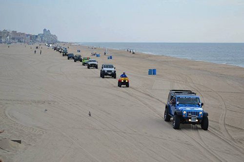Among the featured events planned for the 5th Annual Ocean City Jeep Week are the morning beach parades on Friday, Aug. 22 and Saturday, Aug. 23. File Photo