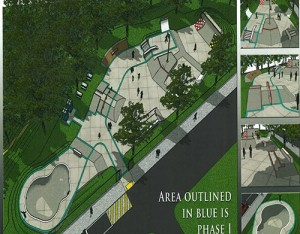 A rendering of the new Salisbury Skate Park is pictured. Rendering by Pillas Design Studios