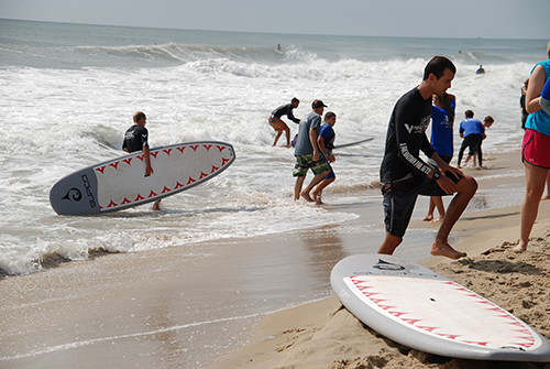 More than 200 children with a variety of disabilities were treated to a day in the ocean by the Surfers Healing organization on Wednesday. Photos by Travis Brown