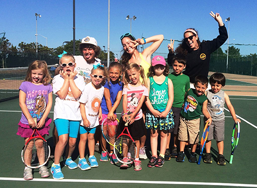The Ocean City Tennis Center last week hosted its annual Silly Pee Wee Camp for young players. While the camp was largely serious in terms of instruction and competition, there was plenty of time for silliness as show by this crew of happy young players and coaches above.  Submitted photo