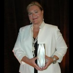 PRMC President/CEO Dr. Peggy Naleppa is pictured with her 2014 Maryland Most Admired CEO Award.