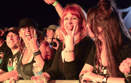Some of the more than 360 attendees to this month's Soundwave Music Festival are pictured during one of the headline acts. Photo by Mid Atlantic Rock Reviews
