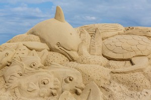 The level of detail of the professional sand sculptors was on display the last two weeks of August during OC Sandfest. Photo by Chris Parypa
