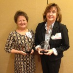 Margaret Mudron of Taylor Bank and Nancy Bradford of the Bank of Ocean City are pictured receiving an award from the Maryland Bankers Association Financial Education Awards Program. Submitted Photo