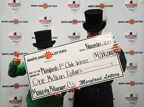 A check presentation featuring fitting costumes was held this week at Maryland Lottery offices. Submitted Photo