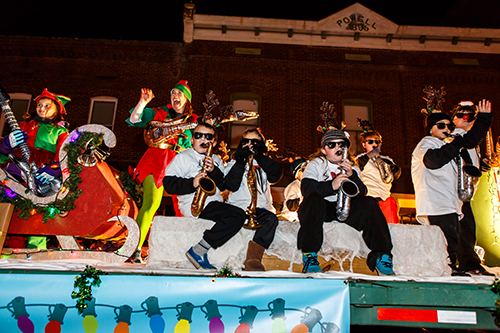 Taking top prize in the school sponsored floats division of the Berlin Christmas Parade last Thursday was Ocean City Elementary School. Photos by Chris Parypa