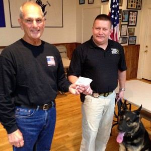 American Legion Riders, The Sons Of American Legion And The Ladies Auxiliary Of Legion Present 3 Checks To Worcester County Sheriff's K-9 Officers