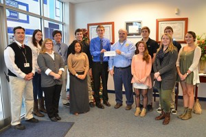 SD High School National Honor Society Presents Believe In Tomorrow Children's Foundation With Check