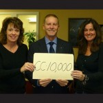 Pictured on the occasion of their 10,000 commercial appraisal are, from left, Karen Ranney, valuation analyst; William R. McCain, president and CEO; and Ginger Williams, vice president/senior analyst. Submitted Photos