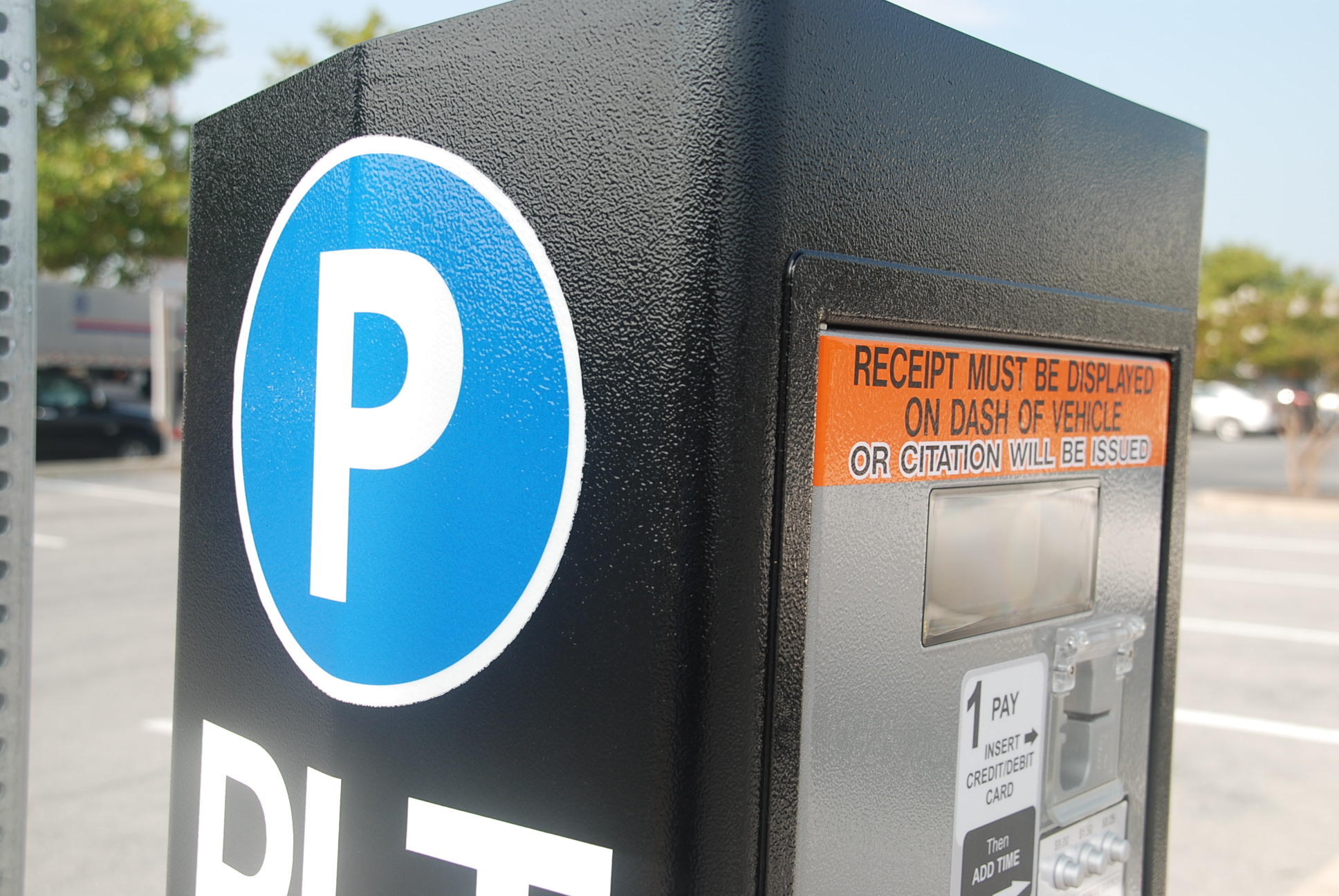 The City Council voted 6-0 this week to collect proposals from companies offering pay-by-phone parking systems to go along with the current Cale parking machines, which provide a receipt for users to display in their vehicles. File Photo