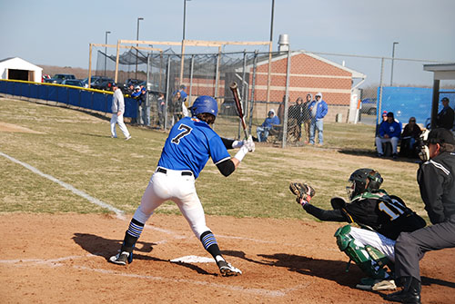Decatur shortstop Justin Meekins stands in during the first inning of Monday's season opener with Mardela. The Seahawks routed the Warriors, 11-0.  Photo by Shawn Soper