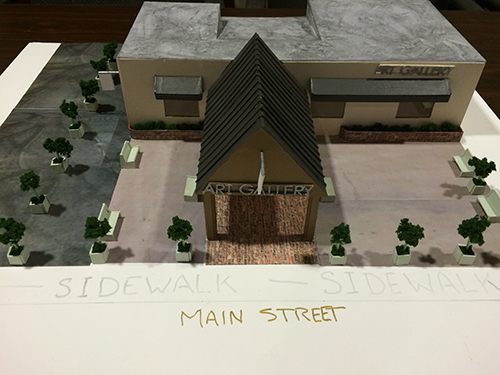 A model of what the renovation project at the former Mid Atlantic Pain Medicine building on Main Street in Berlin was presented to the town's historic commission on Wednesday. Photo by Charlene Sharpe