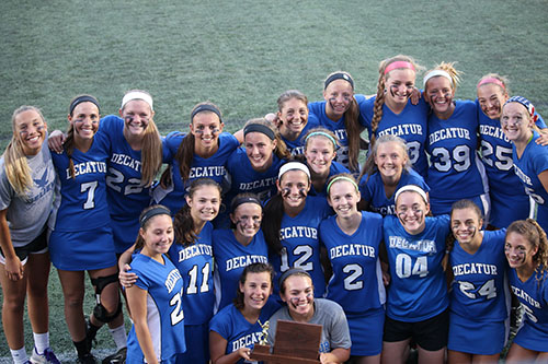 With the sting of the late loss to Century in the state championship game on Wednesday, the Decatur girls' varsity lacrosse team was all smiles as they showed off the runner-up trophy. The Seahawks were remarkable all season during their run for perfection.  Submitted photo
