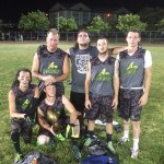 The Bull Assassins last week won the 4v4 championship in the Ocean City spring flag football league. Pictured above are Kyle Swayngim, John Chester, Brandon Storm, Steve Monroe, Sean Boyle, Tyler Boyle, Chip Purnell and Charlie McCaffrey.