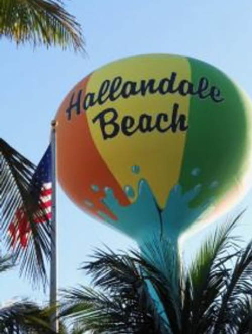 A water tower painted as a beach ball is pictured in Florida. Submitted Photo