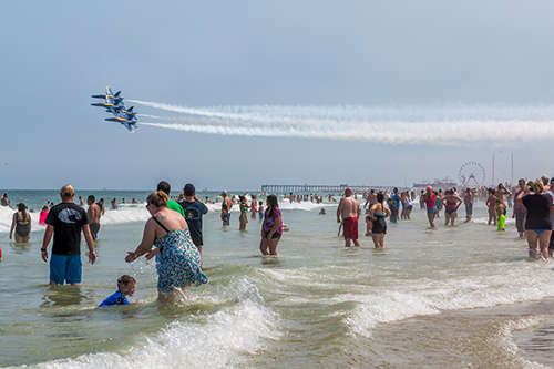 The U.S. Navy Blue Angels are pictured last Sunday. Photo by Chris Parypa