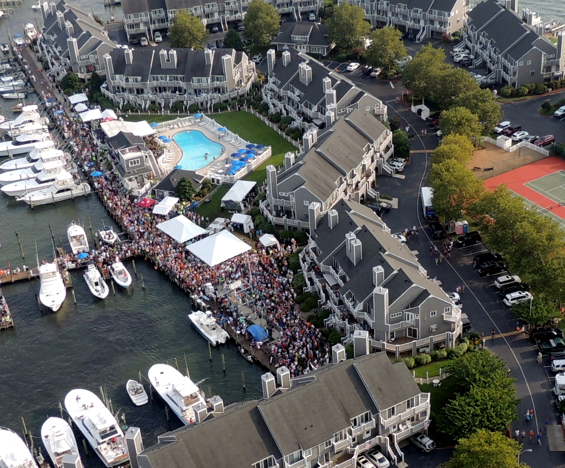 The Harbour Island Marina is pictured during last year's White Marlin Open.