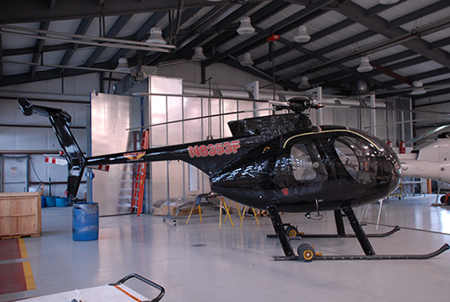 This helicopter will be used to survey power lines in Ocean City for several weeks. File Photo